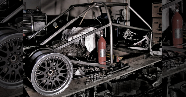 Hand-built LS1 MR track car