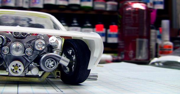 Aluminium '71 Cuda Scale Model