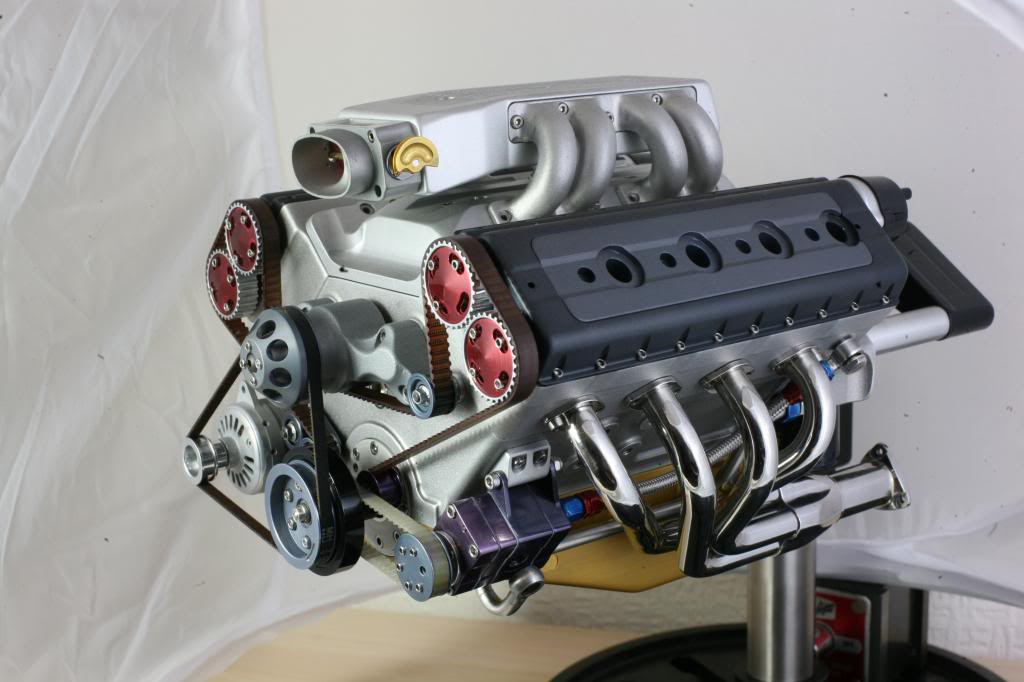 1/4 Scale running V8 engine