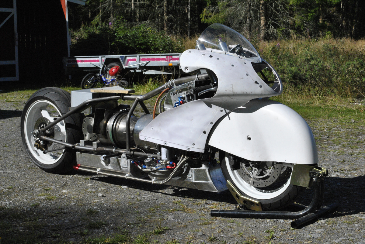 Jet-powered land-speed motorbike