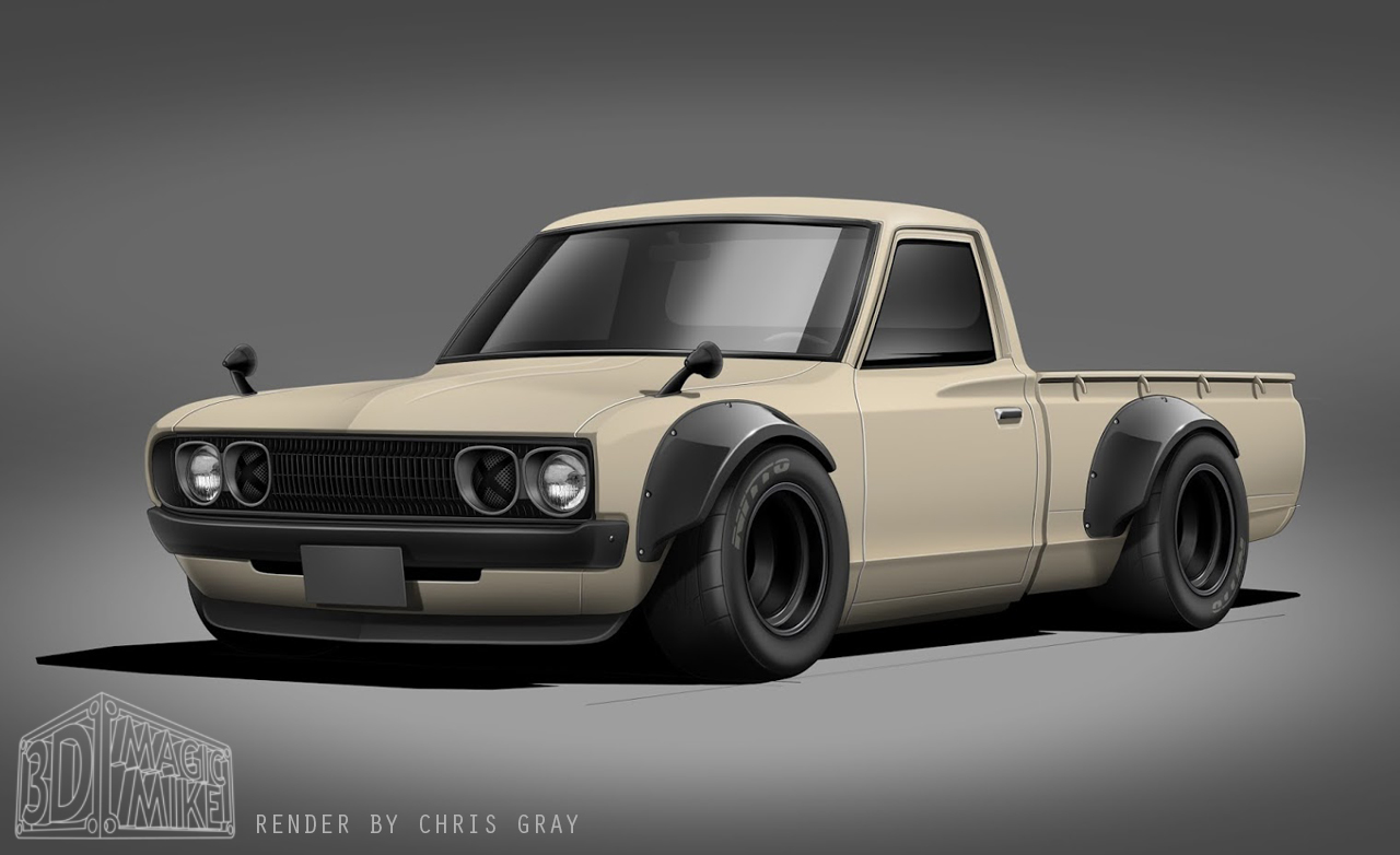 The Engineered 1UZ V8 Datsun 620